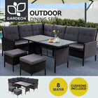 Gardeon Outdoor Sofa Set Patio Furniture Dining Chair Table Lounge Garden Wicker