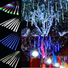 Xmas LED Meteor Shower Falling Rain Icicle Lights Outdoor Home Decor Waterproof