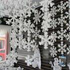 30PCS Christmas White Snowflakes Hanging Decor Xmas Tree Party Wall Ornaments UK
