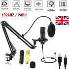 192KHZ24Bit USB Streaming Podcast PC Microphone Studio Cardioid Condenser Mic