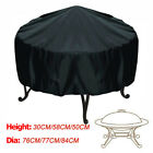 Patio Round Fire Pit Cover Waterproof UV Protector Grill BBQ Cover Black Covers