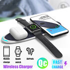 Qi Wireless Fast Charger Charging Pad Dock for Samsung iPhone Air Pods 2 iWatch