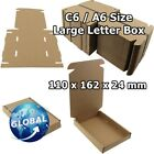 ROYAL MAIL BROWN LARGE LETTER CARDBOARD POSTAL MAILING BOX C6 / A6 FREE POST