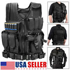 Tactical Vest Military Gun Holder Molle Police Airsoft Combat Assault Gear USA