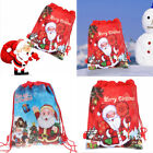 Claus Toy Packing Drawstring Bags Christmas Gift Bag Storage Bags Non-woven