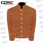US Civil War CS Multi Color Pipping Trim Butternut Wool Shell Jacket All Sizes!