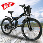 26'' Electric Bike Folding Mountain Bicycle EBike E-MTB Shimano 21 Speed Gear