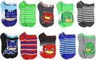 PJ MASKS CATBOY  GECKO 10-Pack Low Cut Socks Boys Ages 2-4 Shoe Size 7-10 NWT