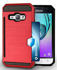 CREDIT CARD SLOT HARD CASE COVER STAND FOR SAMSUNG GALAXY AMP-2, EXPRESS-3