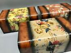 Singles & Sets Of 2 Decoupage/storage/jewellery Boxes Plush Inner Lining  Gift