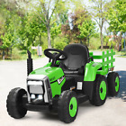 12V Kids Ride On Tractor With Trailer Ground Loader