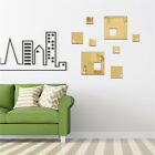 Square Decal 3d Mirror Wall Sticker Diy Removable Mural Home Room Decor Sg