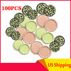 Lot of 100pcs (Flat Linerless Double Sided Painted)  Flattened Beer Bottle Caps