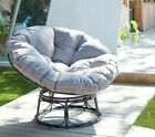 Outdoor Garden Furniture Moon Chair Rattan Papasan Round Indoor Padded Seat
