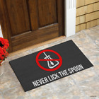 Never Lick The Spoon Personalized Doormat Rug Housewarming Gift Family