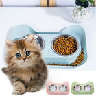 Cat Stainless Steel Puppy Feeder Pet Bowl Double Feeding Bowls Water Food Dish