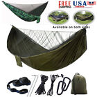 Camping Double Hammock with Mosquito Net Tent Hanging Swing Bed Outdoor Patio