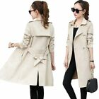 New Autumn Suede Trench Coat Women Abrigo Mujer Long Elegant Outwear Female