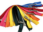 """Crafter's Special YKK Aluminum Donut Pull Metal Teeth 4.5s- 5 Zippers 7"""" or 9"""""""