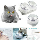 Non-slip Double Bowls Raised Stand Pet Food & Water Bowl Cat Dog Feeding Feeder