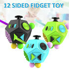 12 Sided Fidget Cube Spinner Desk Toy Kids Anxiety Adult Stress Relief Cubes