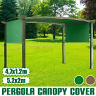 15.5' 17' Patio Pergola Canopy Replacement Cover Outdoor Garden Yard 180g UV30+