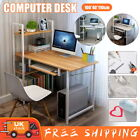Foldable Computer Desk Wood Office Study Workstation Without Installation Home