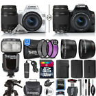 Canon EOS Rebel SL3 DSLR Camera + 18-55mm + 75-300mm III Lens + Dedicated Flash