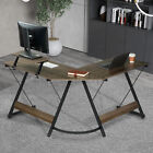 L Shaped Wood Computer Desk Laptop Table Workstation Study Home Office