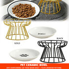 Ceramic Pet Elevated Bowls Raised Food Bowl with Stand For Small Pet Dogs
