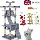 Multilevel Cat Tree Scratching Post Kitten Climbing Tower Activity Centre s7