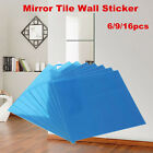 15*15cm Diy Home Decor Mirror Tiles Wall Sticker Square Self Adhesive Stick-on