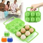 6 Eggs Container Storage Box Holder Portable Carrier Camping Egg Tray LN