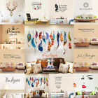 Art Vinyl Family DIY Removable Quote Word Wall Sticker Mural Home Deco