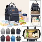 LEQUEEN Mummy Maternity Nappy Diaper Bag Baby Oxford Changing Backpack