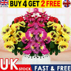 10 Heads Artificial Silk Pansy Flowers Bunch Real Touch Plant Home Party Decor