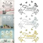 Family Wall Stickers Art Decal Mural Acrylic Butterfly Home Kitchen Decoration