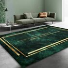 Cozy Carpet Nordic Gold Green Pattern For Bedroom Customized Large Home