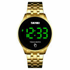 Mens Watches Touch Screen Digital LED Date Stainless Steel Waterproof Quartz.UK