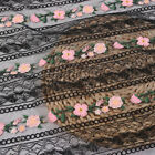 Floral Embroidery Lace Mesh Fabric Wedding Dress Decor Crafts Cloth Sheer Tulle