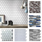 3d Hexagon Wall Tile Sticker Removable Decal Self Adhesive Art Mural Home Decor