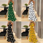 Ladies Backless Evening Gown Summer Beach Sleeveless Party Dress Wedding Holiday