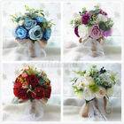 Wedding Artificial Flower Bouquet Supplies Bridal Bouquet Roses Bridesmaid