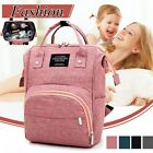 Large Capacity Baby Nappy Changing Diaper Mummy Bag Maternity Backpack