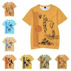 New Pee Chee folder printing short-sleeve casual loose T-shirt men women summer