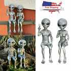 Outer Space Alien Ornaments Garden Resin Statue Figurine Home Decoration Gift Us
