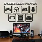 Choose Your Weapon Wall Decal Vinyl Gamer Room Wall Sticker Video Game Computer