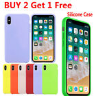 For iPhone 11 Pro Max XS XR 8 7 Plus Liquid Silicone Shockproof Soft Case Cover