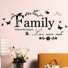Art Diy Room Removable Home Decor Wall Stickers Decals Family Vinyl Quotes Mu Fj