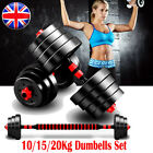 '20kg Dumbells Pair Gym Fitness Weights Barbell Dumbbell Body Exercise Weight Set